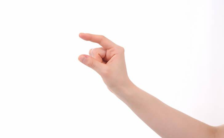 少な目を表す指
